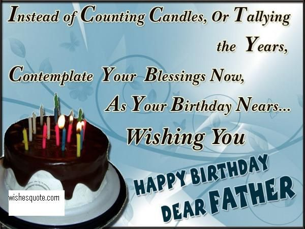 Beautiful happy birthday for dear Father lovely blessing and wishes