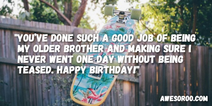 Beautiful message & blessing for little brother Brother happy birthday wish