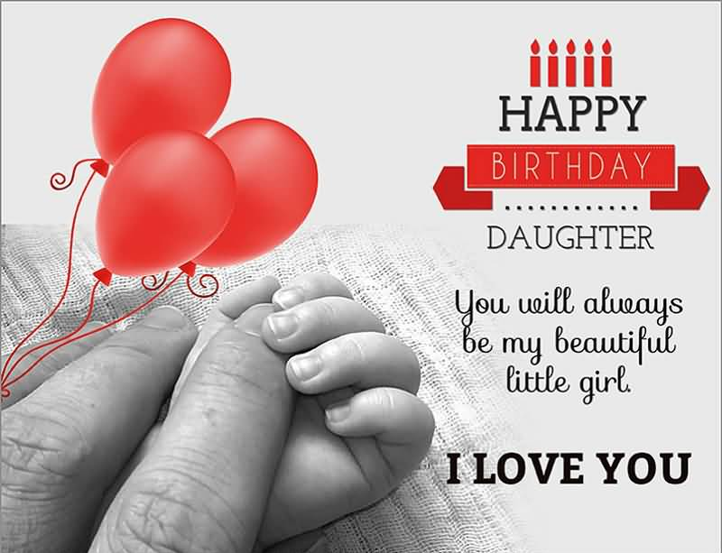 Beautiful message happy birthday for Daughter from dad