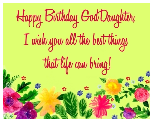 Best birthday wishes for my Goddaughter