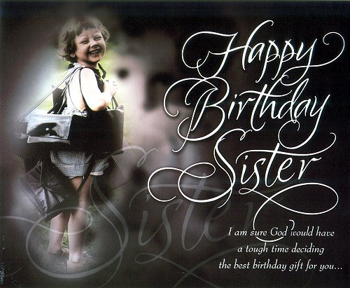 Best ever happy birthday wishes card to dear Sister from your lovely brother