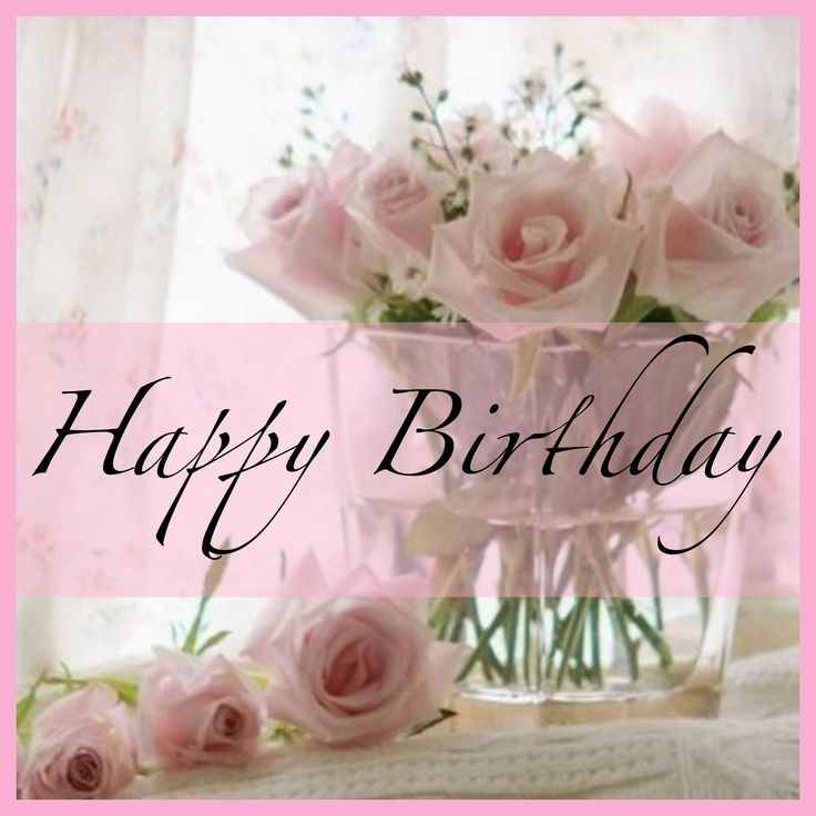 Best images of happy birthday to your Godparents with pink roses