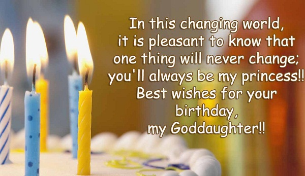 Best wishes for your birthday my Goddaughter