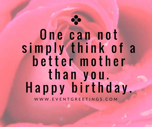 Birthday greetings for dear Mother from daughter