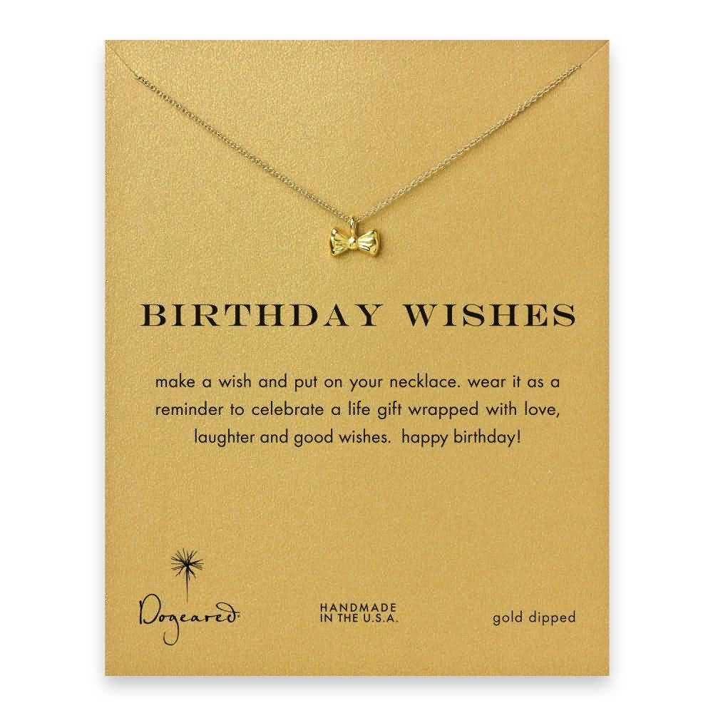 Birthday wishes for dear lovely Wife with necklace from husband