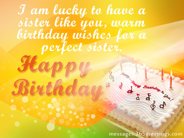 Birthday wishes for my dear Sister from brother
