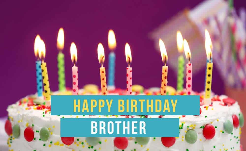 Candle with cake happy birthday for dear Brother wish