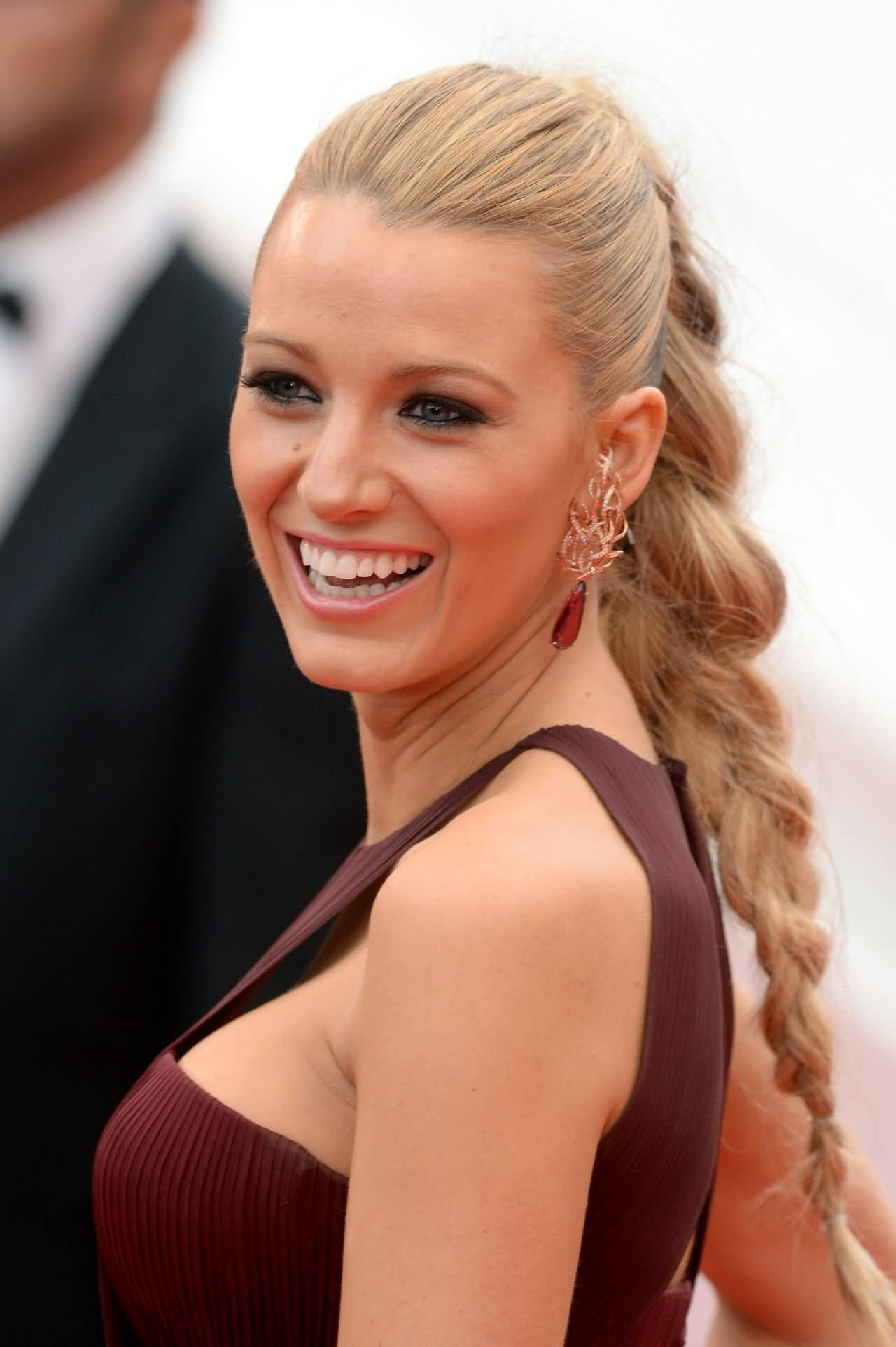 Charming braid style Ponytail hairstyle