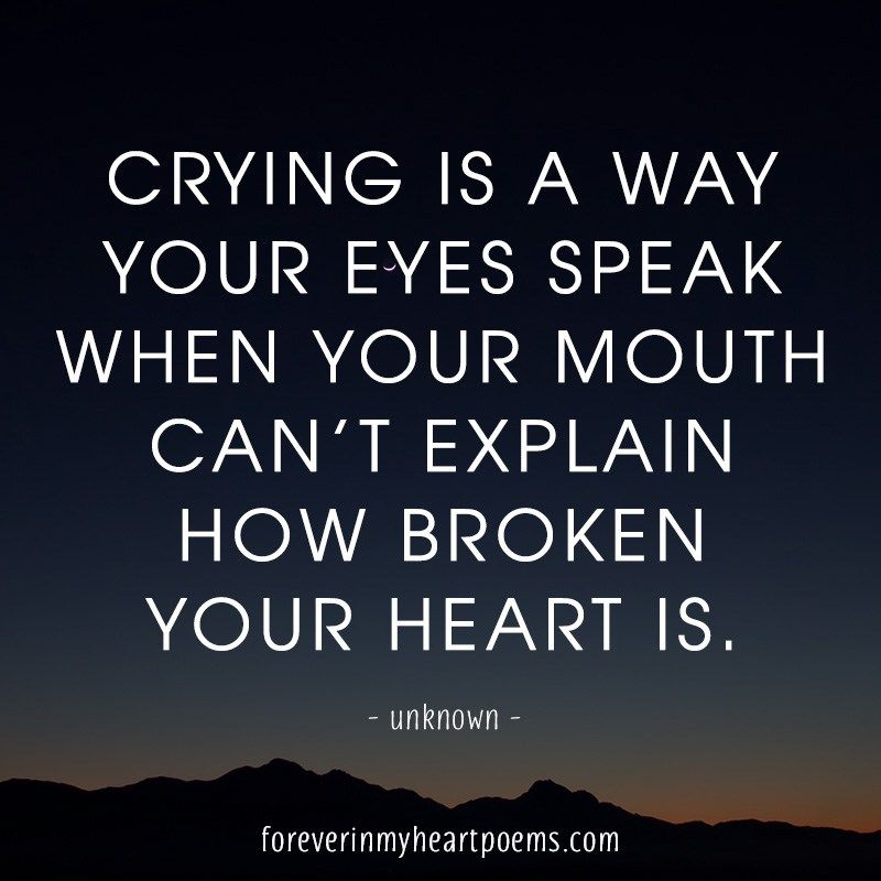 Crying Is A Way Death Quotes