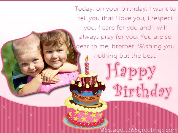 Cute Birthday Greeting Wish For Worlds Best Brother From Sister