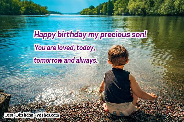 Cute birthday wishes for dear Son from dad