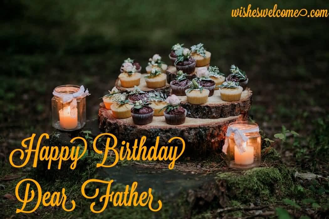 Cute happy birthday dear Father wishes