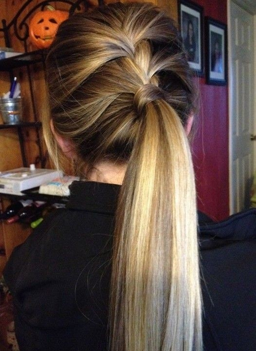 Cute style for long hair Ponytail hairstyle