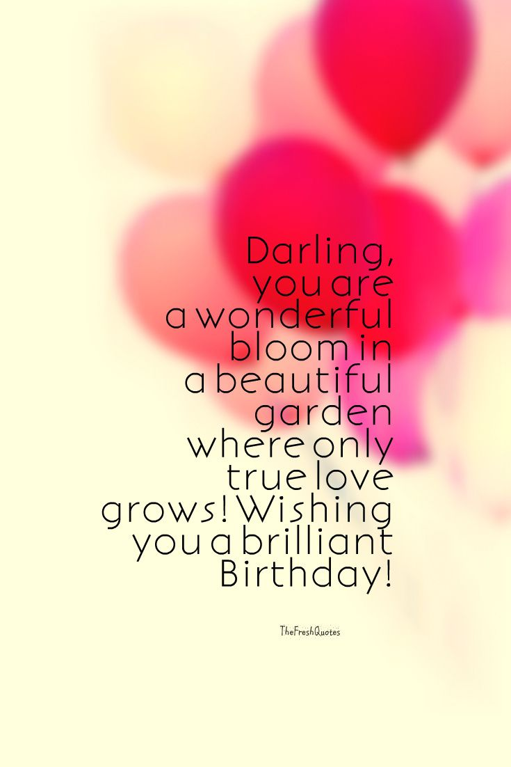 Darling you are a wonderful bloom in a beautiful for smart Boyfriend birthday wishes with romantic background