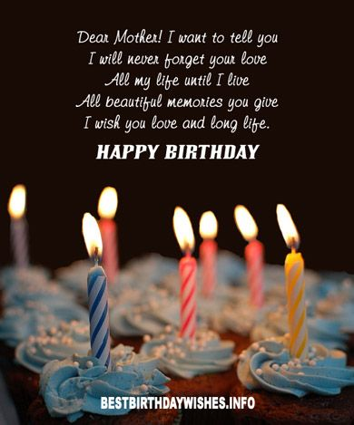 Dear Mother! i want to tell you happy birthday wishes & greeting card