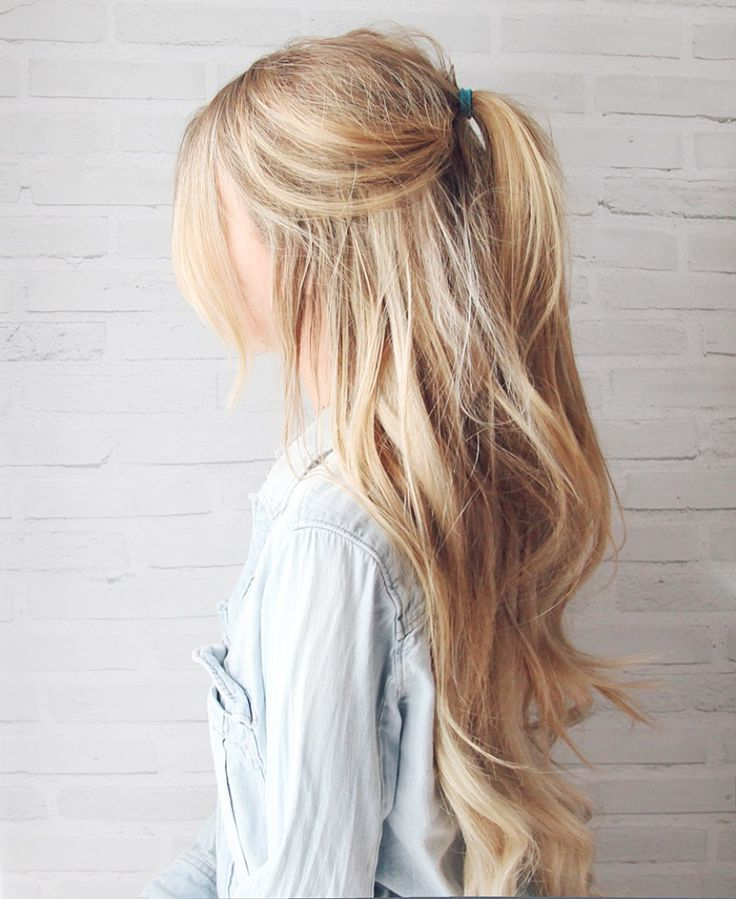Easy ponytail style Long Hairstyle