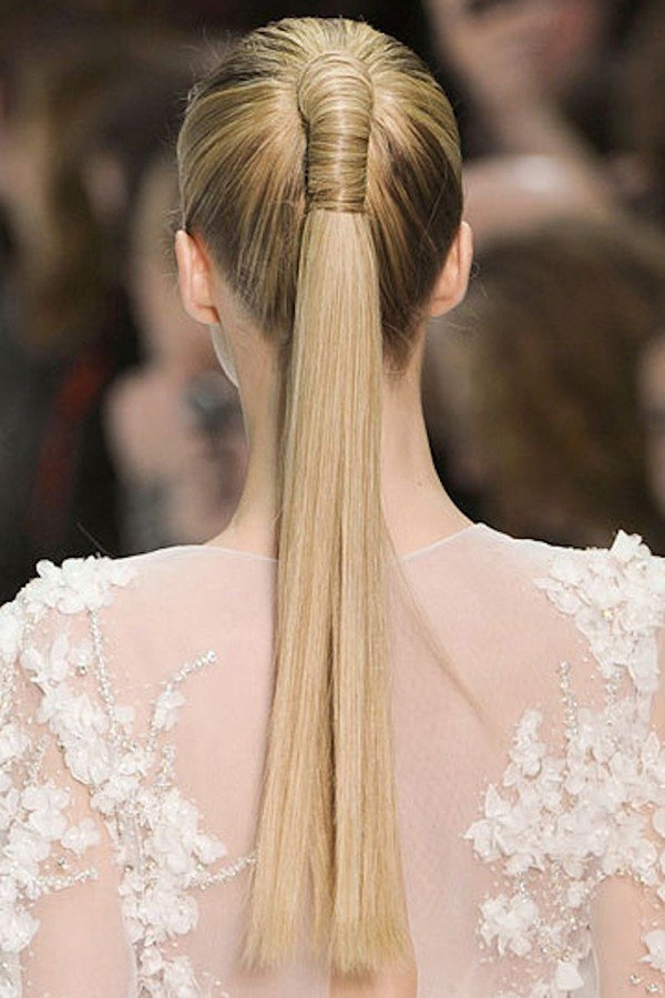 Epic style for bridal Ponytail hairstyle