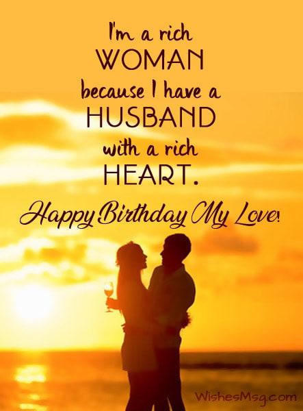 Fabulous heart touching birthday message for cute Husband
