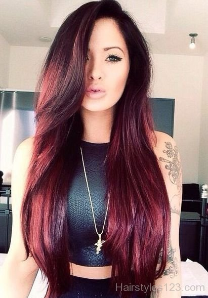 Fantastic two tone style for girls Long Hairstyle