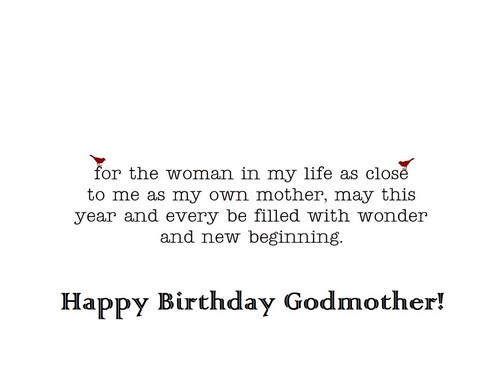 For the women in my life as close messages for my dear Godmother
