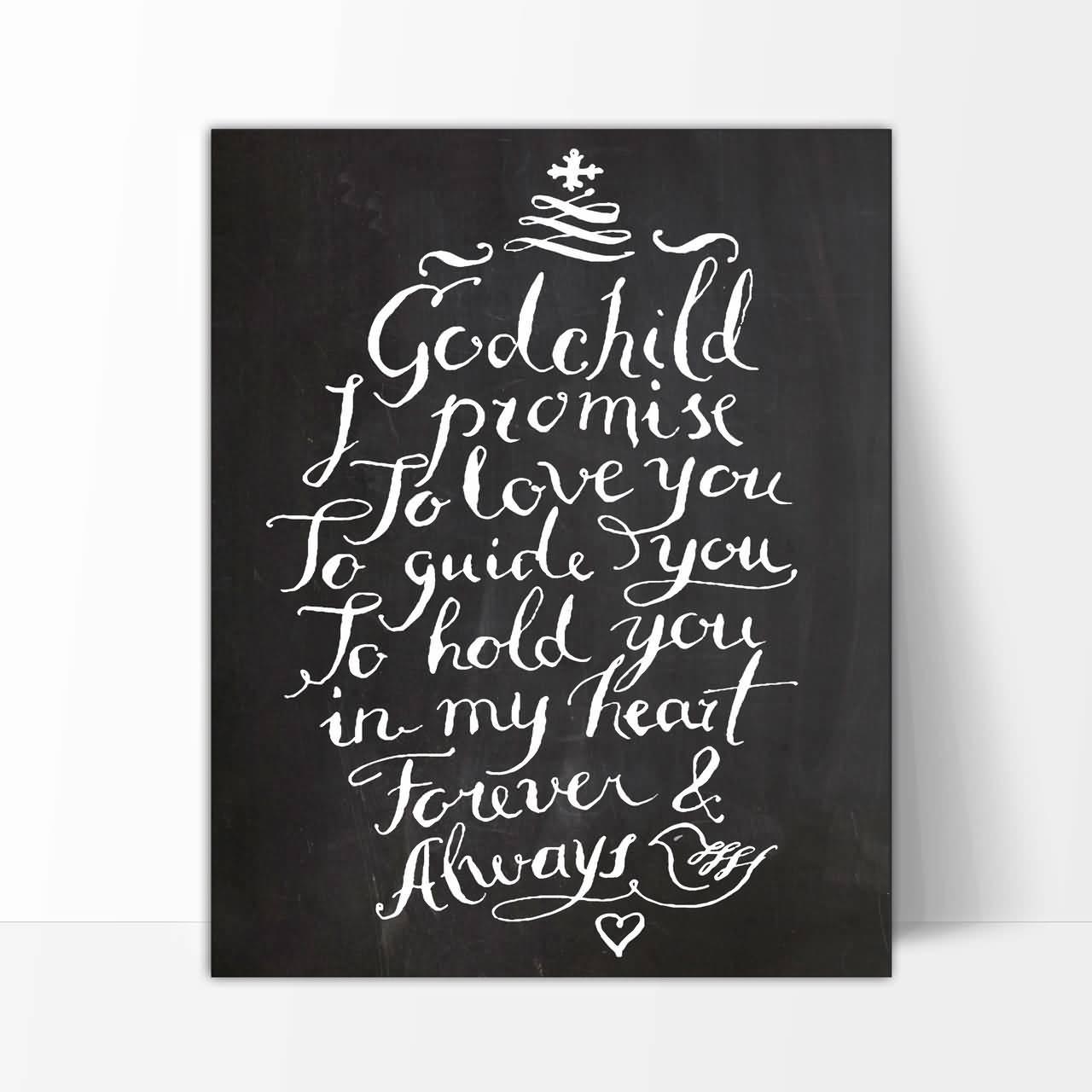 Forever & always lovely message for Godchild birthday