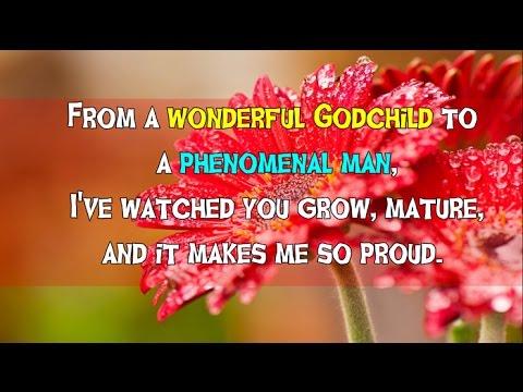 From a wonderful Godchild wishes