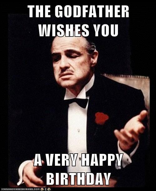 Godfather wishes happy birthday