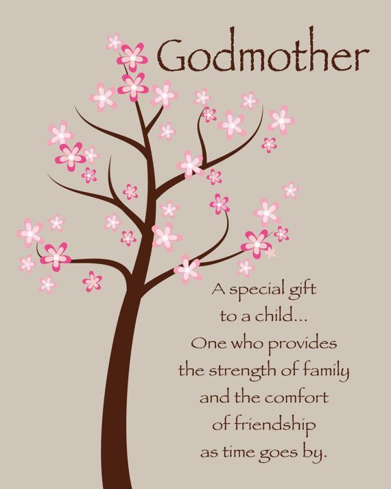 Godmother a special gift to a child messages from son