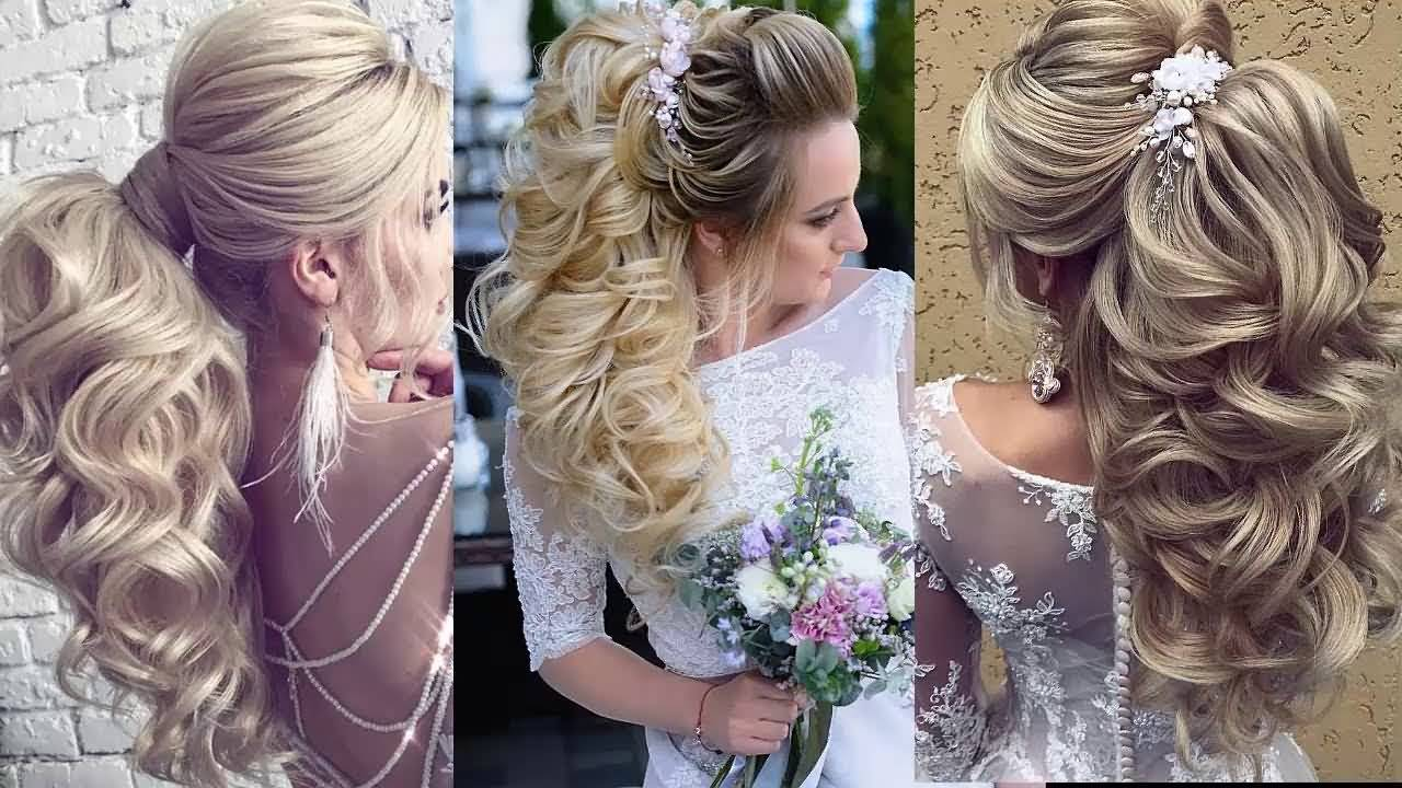 Gorgeous wedding styles for bridal Ponytail hairstyle