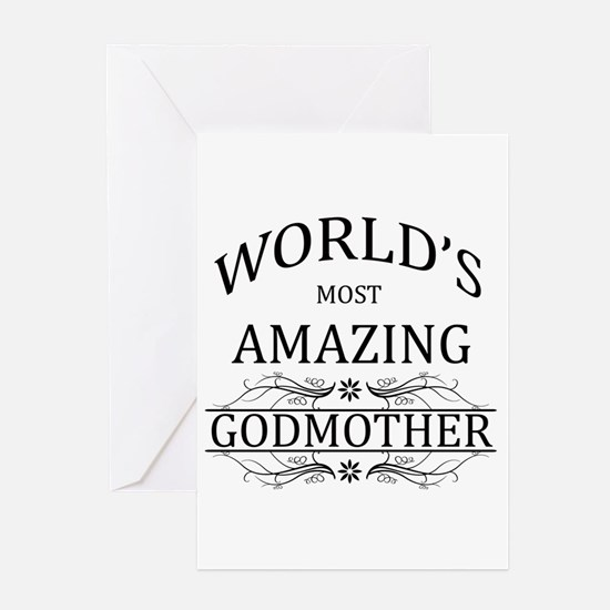 Great happy birthday greeting card for most wonderful Godmother