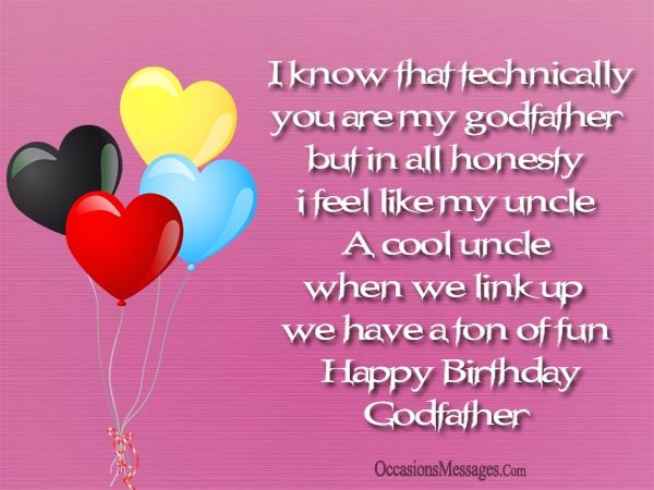 Great happy birthday message for Godfather