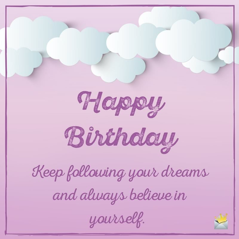 Great inspirational happy birthday wish & message for dear lovely Sister