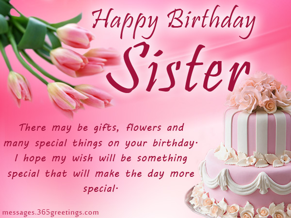 Great wish for great Sister happy birthday messages