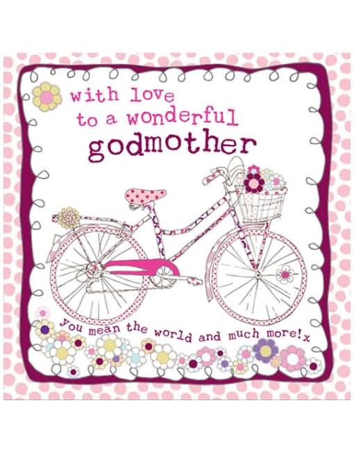 Greeting card for Godmother's birthday from little son