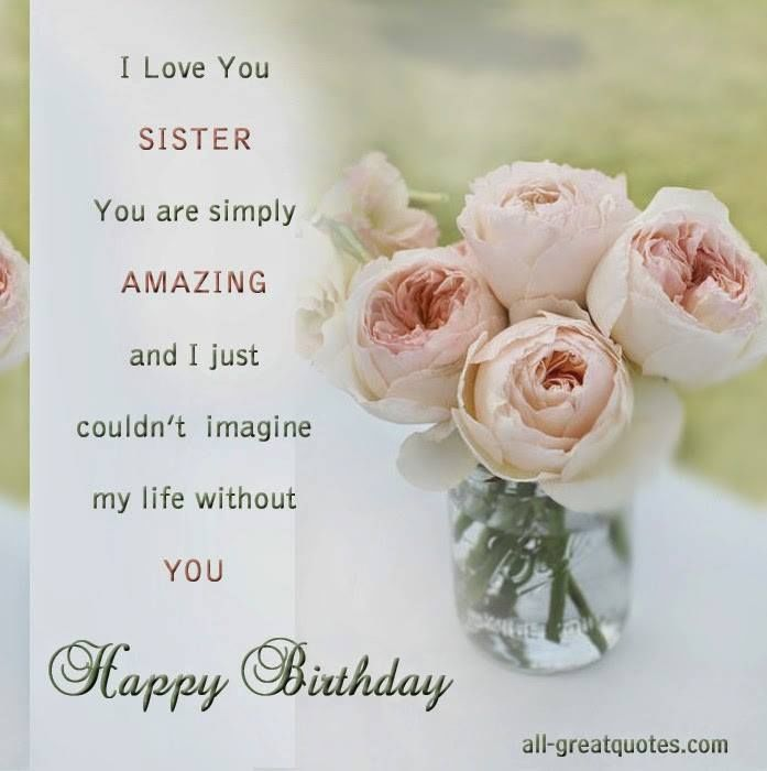 Happy birthday greeting wishes for dear Sister from brother