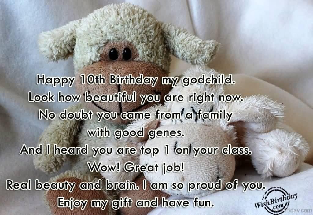 Happy 10th birthday my Godchild blessing & wishes