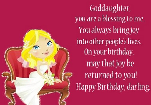 Happy Birthday Wishes For Darling Goddaughter