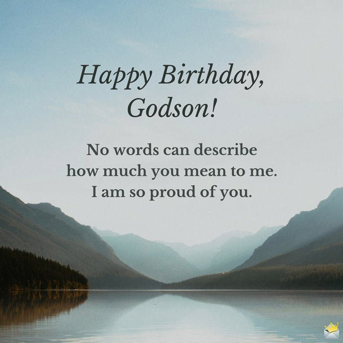 Happy birthday Godson i am proud of you from father