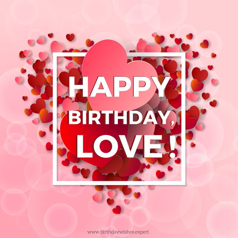 Happy birthday Love For awesome Girlfriend wishes with greeting cards