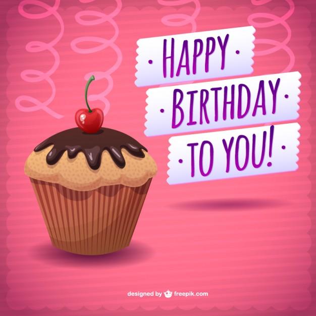 Happy birthday chocolate cake card for Godchild