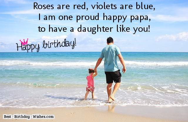 Happy birthday cute Daughter wishes from dad