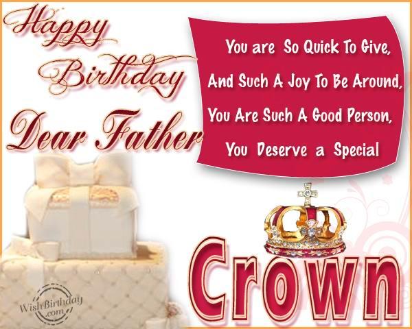 Happy birthday dear Father greeting card