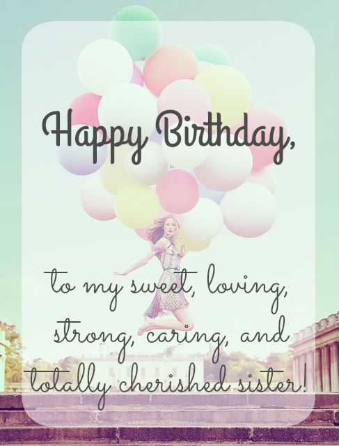 Happy birthday dear Sister wishes