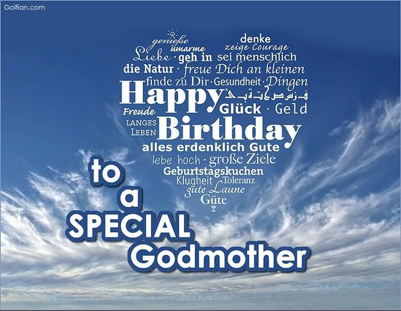 Happy birthday from the heart to a special Godmother wish