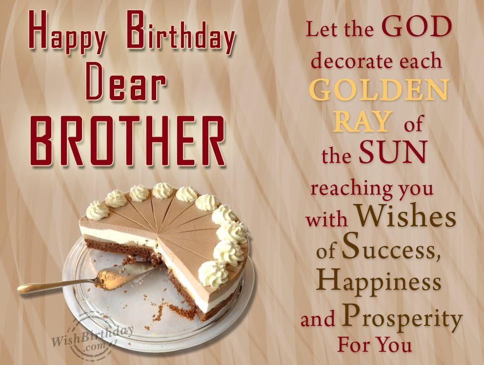 Happy Birthday Greeting Cards For Dear Brother From Sister