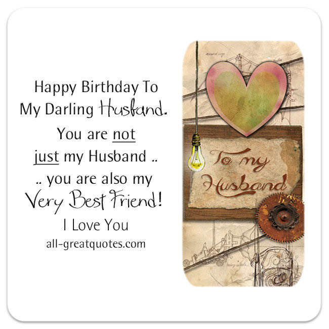 Happy birthday greeting wish to my darling Husband from wife