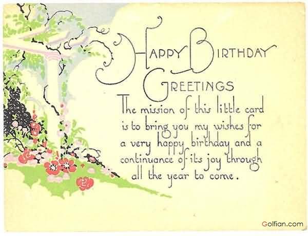 Happy birthday greetings for Godson