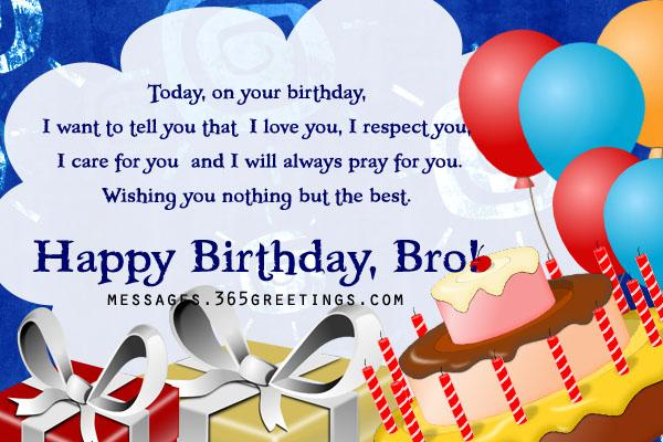 Happy birthday greetings with balloons for best Brother