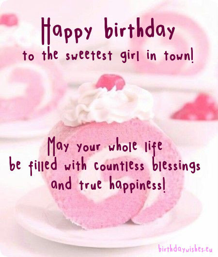 Happy birthday little Daughter wish for blessing