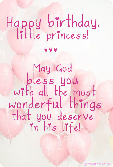 Happy birthday little princess Daughter wishes & blessing by god